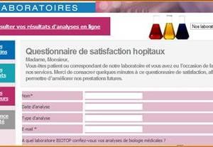 Questionnaire de satisfaction Hôpital en ligne.