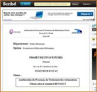 Traitement satisfaction Clients et réclamations chez RENAULT