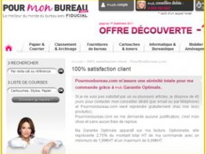 100 % de satisfaction client, sur le site pourmonbureau.com