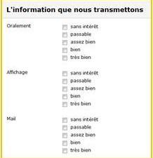 Enquête satisfaction en ligne «sans intérêt»