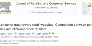 La confiance du consommateur dans les sites Web