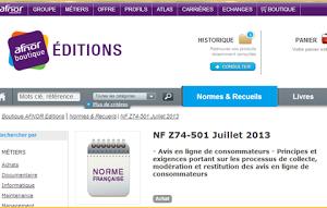 «La Norme – avis conso – pour les nuls»  – Norme AFNOR sur les Avis en Ligne des Consommateurs