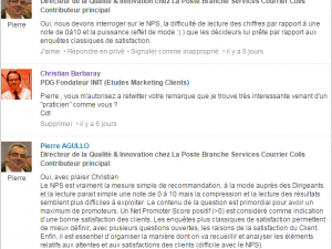 La meilleure question entre Recommandation & Satisfaction ?  (réaction)