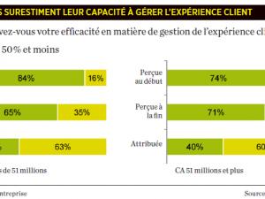 La bonne gestion de l'expérience client est sur-estimée par les entreprises