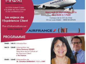 Conférence sur « les enjeux de l'Expérience Client »